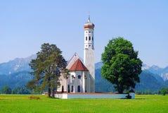 Барочная церковь Святого-Coloman Стоковое Фото