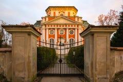 Барочная церковь - Schlosskirche Buch - в Alt Buch Берлине Стоковое Изображение RF