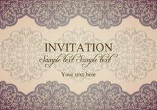 Барочное приглашение, патина Стоковая Фотография RF