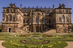 Барочное Palais в большом саде, Дрездене стоковая фотография
