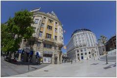 Барочные здания в скопье, македонии Стоковое Изображение