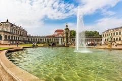 Барочные павильоны Zwinger - Дрезден, Германия стоковое фото rf
