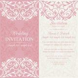 Барочные приглашение, пинк и беж свадьбы Стоковое Изображение RF