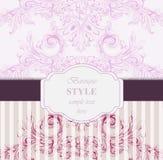 Барочный вектор карточки приглашения Роскошный классический орнамент Винтажная королевская викторианская текстура для wedding, па иллюстрация вектора