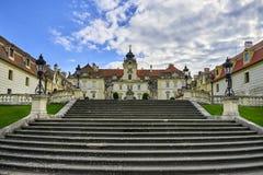 Барочный замок в Valtice, Моравии, чехии стоковое изображение rf