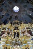 Барочный интерьер церков Smolenskaya - святая троица - St Стоковые Фотографии RF