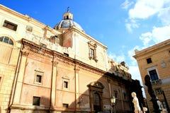 барочный квадрат pretoria s церков caterina стоковые фото