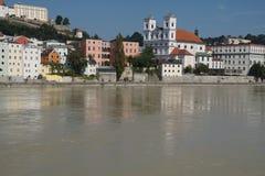 Барочный портовый район Passau стоковое изображение rf