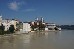Барочный портовый район Passau стоковая фотография rf