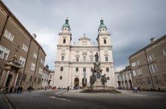 Барочный старый городок, городок Зальцбурга старый, Австрия стоковые фотографии rf
