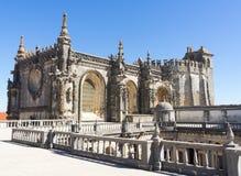 Барочный стиль архитектуры на замке Tomar Стоковое фото RF