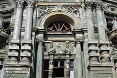 Барочный фасад архитектуры возрождения Стоковое Изображение