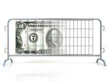 Баррикады стали и доллара бесплатная иллюстрация