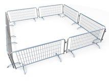 Баррикад квадрат сделанный из передвижной стали ограждает 3D бесплатная иллюстрация