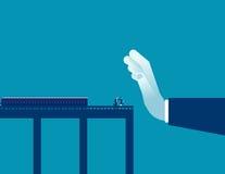 баррикад Остановите бизнесменов к успеху Дело концепции иллюстрация вектора