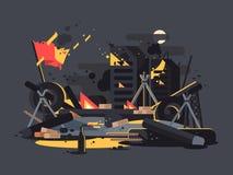 Баррикады на огне бесплатная иллюстрация