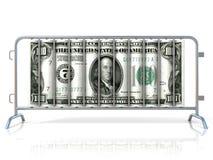 Баррикады стали и доллара Вид спереди бесплатная иллюстрация