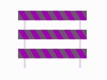 Баррикады для пользы с дорогами иллюстрация штока