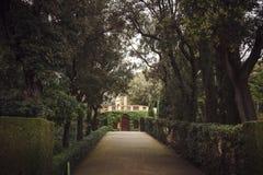 БАРСЕЛОНА, ИСПАНИЯ - 22-ОЕ АПРЕЛЯ 2016: Ретро детали стиля в Parc d Стоковая Фотография