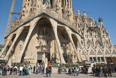 Церковь Sagrada Familia в Барселона, Каталонии Стоковые Изображения