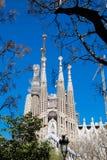 БАРСЕЛОНА, ИСПАНИЯ - 10-ОЕ МАРТА: Шедевр familia Sagrada Gaudi все еще uncompleted Стоковое фото RF