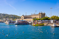 БАРСЕЛОНА, ИСПАНИЯ - 18-ОЕ ОКТЯБРЯ 2014: Порт Vell в Барселоне, Испании Стоковое Фото