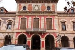 БАРСЕЛОНА, ИСПАНИЯ - 18-ое октября 2017 - строя Parlament de Cata Стоковые Изображения RF