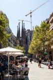 БАРСЕЛОНА, ИСПАНИЯ - 10-ое сентября 2017: Ла Sagrada Familia - Catho Стоковые Фотографии RF