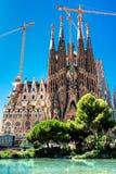 БАРСЕЛОНА, ИСПАНИЯ - 10-ое сентября 2017: Ла Sagrada Familia - Catho Стоковые Фото