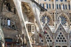 БАРСЕЛОНА, ИСПАНИЯ - 15-ое сентября 2014 la sagrada Стоковая Фотография