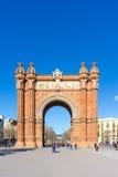 БАРСЕЛОНА ИСПАНИЯ - 9-ое февраля 2017: Дуга de Triomf в Барселоне, Стоковое Изображение