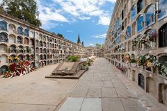 Барселона, Испания, 2012 05 20 - старое кладбище в Барселоне, Испании Стоковое фото RF