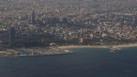 Барселона от выше акции видеоматериалы