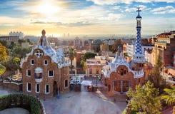 Барселона, парк Guell, Испания - никто стоковые изображения