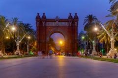 Барселона triumphal paris ландшафта дня города свода солнечное Стоковая Фотография RF