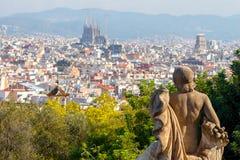 Барселона Взгляд сверху Стоковое фото RF