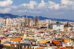 Барселона Взгляд сверху Стоковая Фотография RF