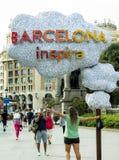 Барселона воодушевляет стоковая фотография rf
