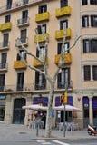 Барселона второй по величине город в Испании, столица автономной области Каталонии и провинции 1 полет s птицы Стоковое фото RF
