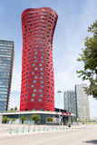 Барселона, ИСПАНИЯ - 25-ое августа 2014: Гостиница Porta Fira стоковые фото