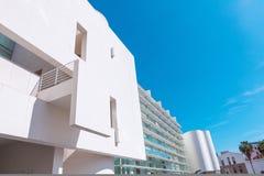 Барселона, Испания - 18-ое апреля 2016: MACBA Museo De Arte Contemporaneo, музей современного искусства Стоковая Фотография