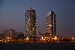 Башни Близнецы Mapfre, Барселона Стоковые Изображения RF