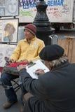 Портрет чертежа колеривщика человека Стоковые Фото