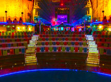 Барселона, Испания - 12-ое сентября 2015: Очарование туристического судна морей имело королевский карибский International Стоковое Фото