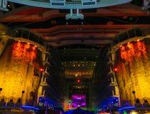 Барселона, Испания - 12-ое сентября 2015: Очарование туристического судна морей имело королевский карибский International Стоковые Изображения RF