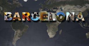 Барселона отображает коллаж стоковые фотографии rf