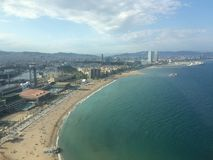 Барселона от неба стоковые фотографии rf