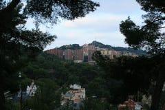Барселона, парк Guel Стоковое Изображение RF