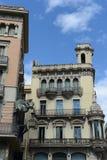 Барселона 1 полет s птицы Стоковое Изображение RF