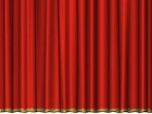 бархат красного цвета занавеса Стоковая Фотография